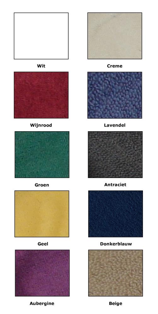 badstof kleuren